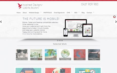Screenshot of Site Map Page inspireddesigns.com - Website Design Sunshine Coast | Web Designers and Developers Queensland - captured Oct. 6, 2014