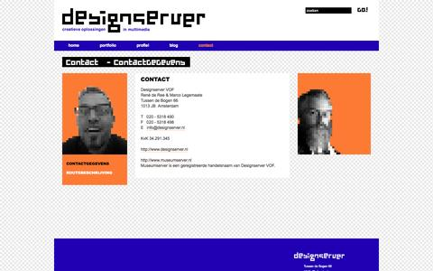 Screenshot of Contact Page museumserver.nl - ContactGeGevens - Designserver - captured Oct. 31, 2014