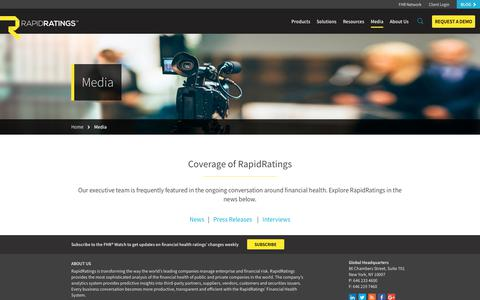 Screenshot of Press Page rapidratings.com - Media & Press | RapidRatings | Financial Health Rating - captured Aug. 19, 2017