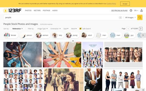 Screenshot of Team Page 123rf.com - People Stock Photos And Images - 123RF - captured July 4, 2019