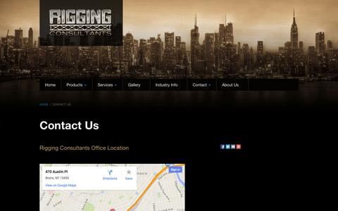 Screenshot of Maps & Directions Page riggingconsultants.com - Industry Information - captured Oct. 26, 2014