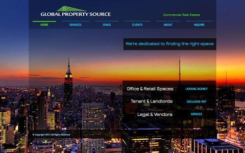 Screenshot of Home Page globalpropertysource-llc.com - globalpropertysource - captured Sept. 30, 2014