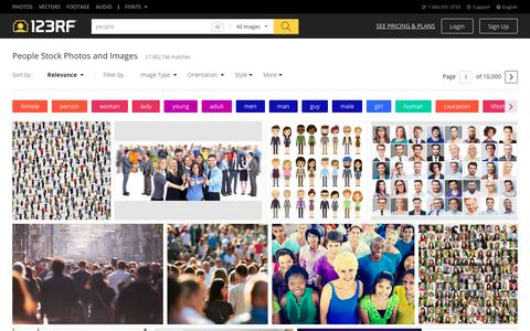 Screenshot of Team Page 123rf.com - People Stock Photos. Royalty Free People Images - captured Aug. 4, 2018