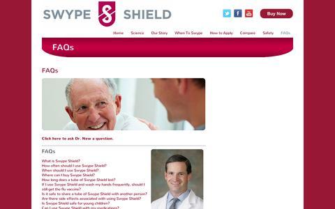 Screenshot of FAQ Page swypeshield.com - FAQs - SwypeShield - captured Sept. 10, 2014