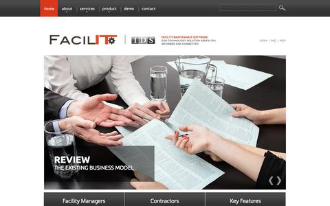 Screenshot of Home Page facil-ity.com - Facil-ITy | Facility Maintenance Software - captured Sept. 30, 2014