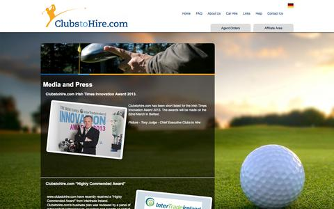 Screenshot of Press Page clubstohire.com - Golf Clubs Hire, Golf Club Rental, Faro Golf Hire Rental, Algarve Golf Club Hire,Algarve Golf Club Hire - captured Sept. 30, 2014