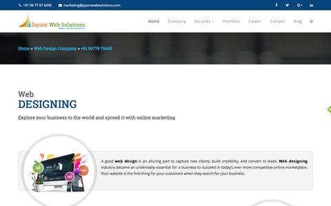 Screenshot of Services Page jayamwebsolutions.com - Web Designing In Chennai, Web Design Company In Chennai - captured Jan. 9, 2018