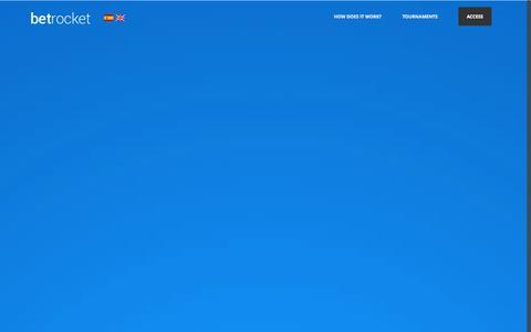 Screenshot of Home Page betrocket.com - Sport betting tournaments, sport betting contest. - BetRocket - captured Sept. 22, 2014