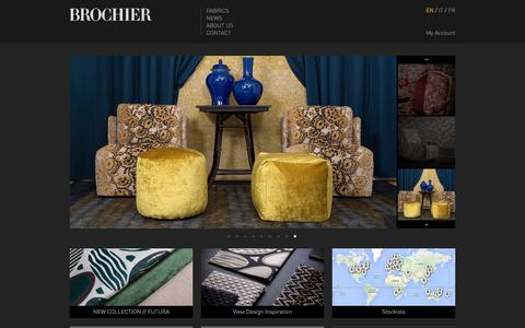 Screenshot of Home Page brochier.it - BROCHIER Home Page. The finest furnishing textiles. - captured Aug. 4, 2018