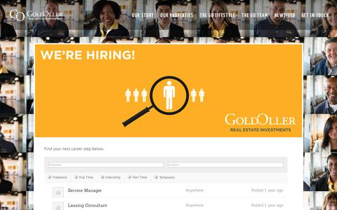 Screenshot of Jobs Page goldoller.com - Jobs - Join the GO team - GoldOller - captured Aug. 24, 2017