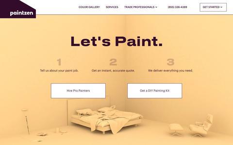 Screenshot of Home Page paintzen.com - home | Paintzen - captured April 7, 2016