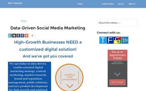 Screenshot of Services Page hausmanmarketingletter.com - Social Media Consulting - Hausman Marketing Letter - captured Jan. 27, 2016