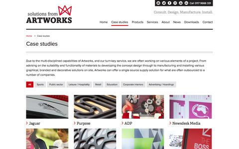 Screenshot of Case Studies Page artworks-solutions.com - Case studies - Artworks Solutions Ltd - captured Oct. 4, 2014