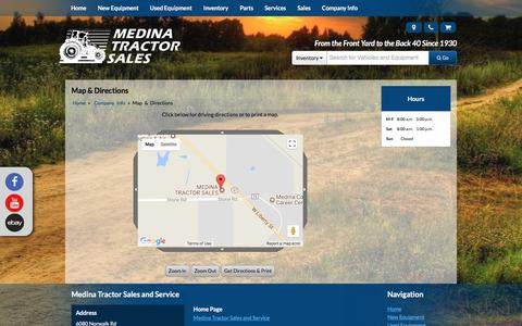 Screenshot of Maps & Directions Page medinatractor.com - Map and Driving Directions Medina Tractor Sales and Service Medina, OH (330) 725-4951 - captured Oct. 18, 2017