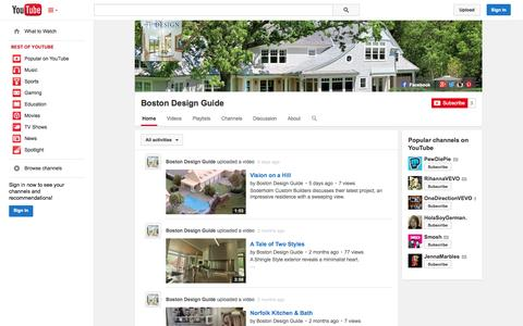 Screenshot of YouTube Page youtube.com - Boston Design Guide  - YouTube - captured Oct. 29, 2014