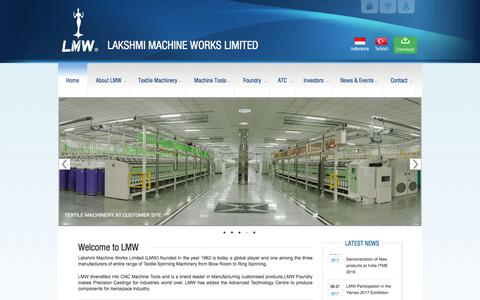 Screenshot of Home Page lakshmimach.com - LAKSHMI MACHINE WORKS LIMITEDLAKSHMI MACHINE WORKS LIMITED - captured July 12, 2017