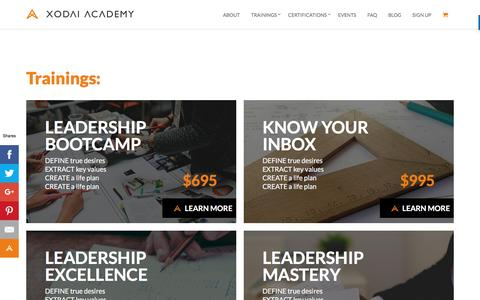 Screenshot of Signup Page xodaiacademy.com - Pricing – Xodai Academy - captured Aug. 11, 2016