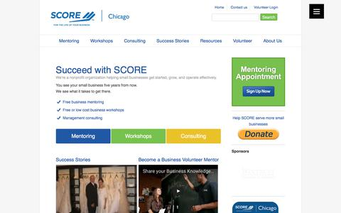 Screenshot of Home Page scorechicago.org - Chicago Small Business Advisors - Free Business Help - SCORE Chicago - captured Aug. 15, 2017