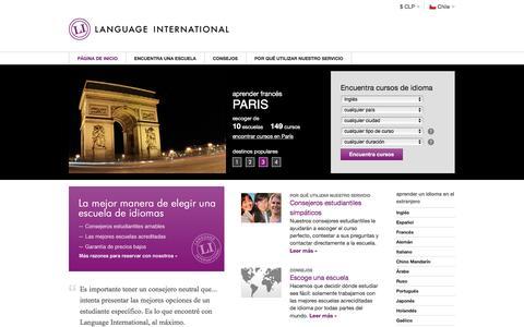Screenshot of Home Page languageinternational.cl - Cursos de Idiomas en el Extranjero | Language International - captured Dec. 30, 2016