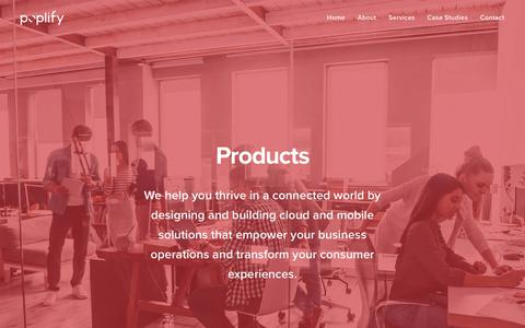Screenshot of Products Page poplify.com - Products – Poplify - captured Sept. 28, 2018