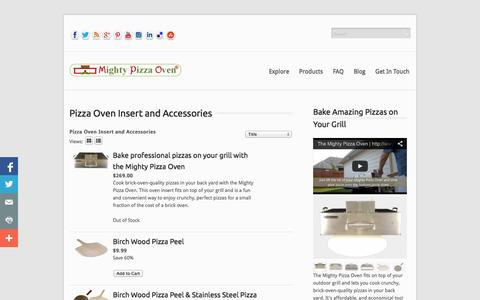 Screenshot of Products Page mightypizzaoven.com - Pizza Oven Insert and Accessories - captured Sept. 19, 2014