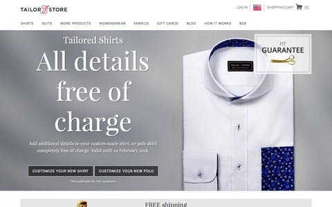 Tailor Store: Changing the World. Shirt by Shirt. Suit by Suit.