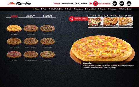 Screenshot of Menu Page pizzahut.com.sg - Menu | Pizza Hut Singapore - captured Jan. 17, 2016