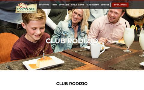 Screenshot of Signup Page rodiziogrill.com - Club Rodizio by Rodizio Grill - captured Sept. 23, 2018