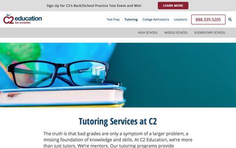 Screenshot of c2educate.com - Tutoring Services - Find Local Tutoring Centers - C2 Education - captured Sept. 26, 2017