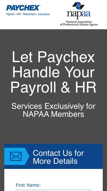 Payroll Services Exclusively for NAPAA Members