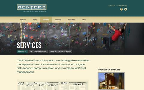 Screenshot of Services Page centersusa.com - Services : CENTERS - captured Sept. 25, 2018