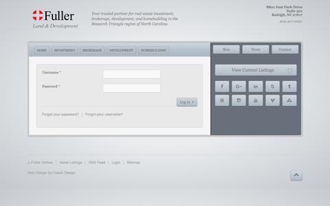 Screenshot of Login Page fullerlanddev.com - Login | Fuller Land and Development - captured Sept. 24, 2018