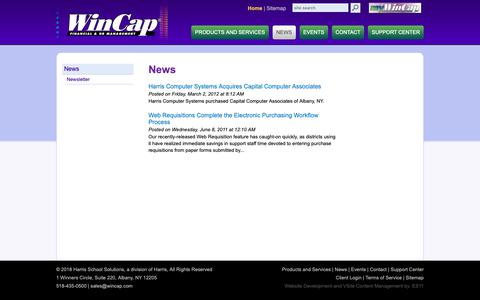 Screenshot of Press Page wincap.com - News :: Capital Computer Associates - captured Dec. 14, 2018