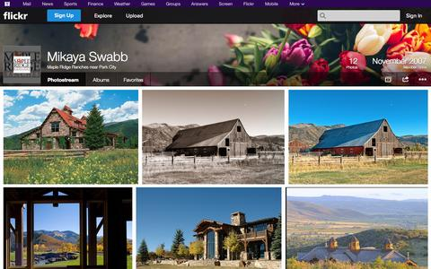 Screenshot of Flickr Page flickr.com - Flickr: Maple Ridge Ranches near Park City's Photostream - captured Oct. 27, 2014