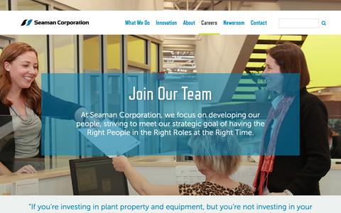 Screenshot of Jobs Page seamancorp.com - Join Our Team | Seaman Corporation - captured Oct. 25, 2018