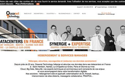 Screenshot of Home Page oceanet-technology.com - Oceanet Technology - Hébergement & Services Managés - captured May 23, 2016