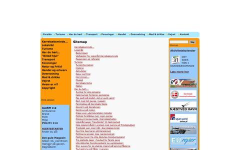 Screenshot of Site Map Page karrebaeksminde.dk - Karrebæksminde - meget mere end et idyllisk fiskerleje - Sitemap - captured Oct. 5, 2014