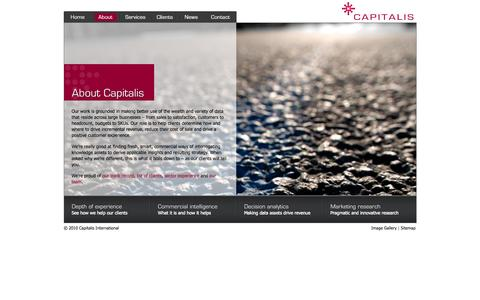 Screenshot of About Page capitalis.com.au - Capitalis- the strategic marketing reseach consultancy - captured Sept. 27, 2014