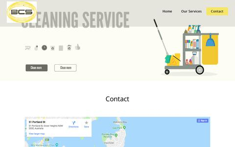 Screenshot of Contact Page ballacleaningservices.com.au - Contact - captured Aug. 1, 2018