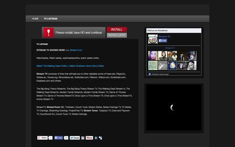 Screenshot of Home Page stream-tv-series.me - Stream TV| Streaming tv | tv stream | Stream TV Videos Free - captured Jan. 22, 2015