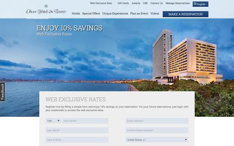 Screenshot of Signup Page oberoihotels.com - Member's Login | Oberoi Hotels & Resorts - captured Oct. 10, 2017