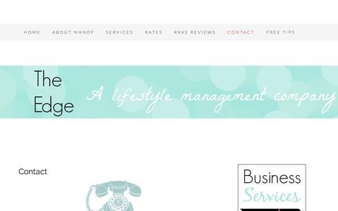 Screenshot of Contact Page executive-edge.net - Contact - - captured Sept. 30, 2014
