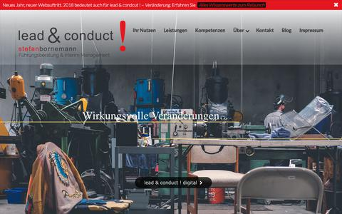 Screenshot of Home Page lead-conduct.de - Start - lead & conduct ! - captured July 14, 2018
