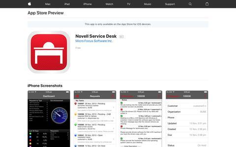 Novell Service Desk on the AppStore
