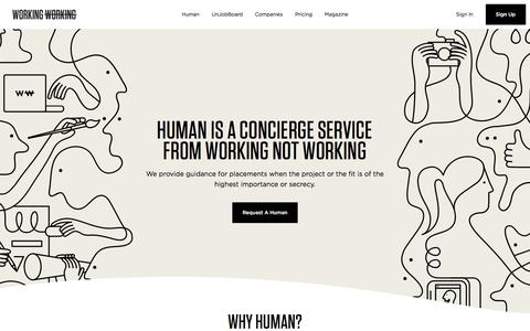 Human - Working Not Working