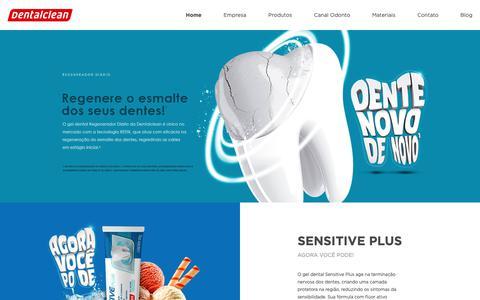 Screenshot of Home Page dentalclean.com.br - Indústria brasileira de produtos para Higiene Oral - Dentalclean - captured Nov. 6, 2018