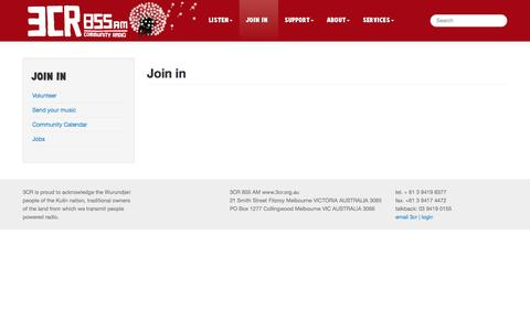Screenshot of Signup Page 3cr.org.au - Join in   3CR Community Radio - captured Sept. 30, 2014