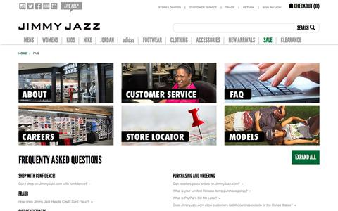 Frequently Asked Questions (FAQ) | Jimmy Jazz