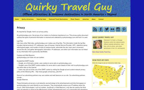 Screenshot of Privacy Page quirkytravelguy.com - Privacy | Quirky Travel Guy - captured Nov. 3, 2014
