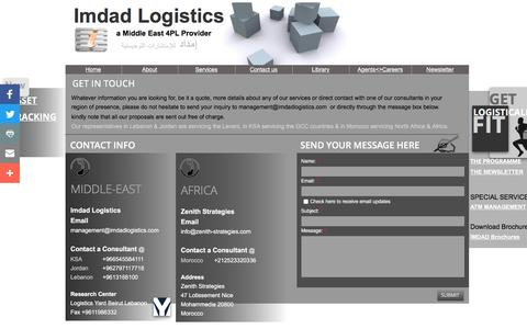 Screenshot of Privacy Page Contact Page imdadlogistics.org - Contact Imdad Logistics 4PL - captured Aug. 5, 2016